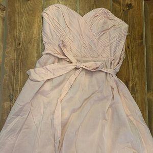 Blush pink strapless express dress